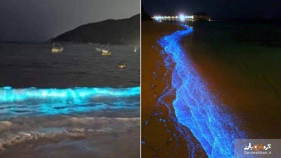 ساحل درخشان آبی در مکزیک